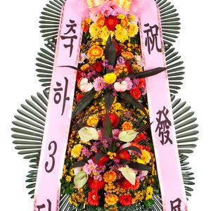 축하3단화환-V