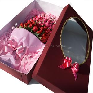 [장미100송이]삼색꽃다발 & 상자